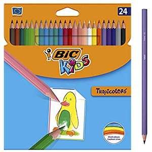 24 matite colorate Bic Kids Tropicolors senza Legno