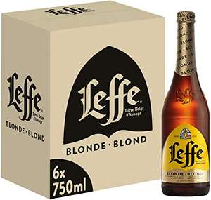 Leffe Blonde Birra, Bottiglia - Pacco da 6 x 750 ml