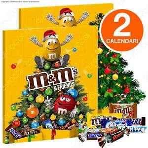 M&M's & Friends Calendario dell'Avvento - 2 Confezioni da 361g