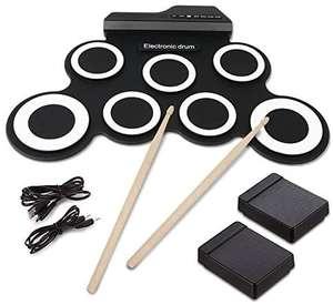 Hizek batteria elettronica 7 Pads portatile