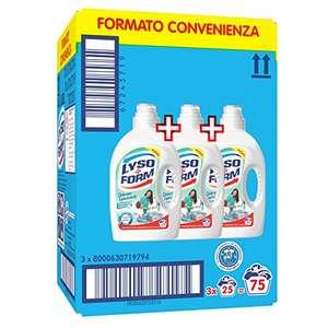 3x 25 lavaggi Lysoform Detersivo Igienizzante per Bucato,