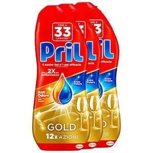 3x33 lavaggi Pril Gold Gel Lavastoviglie con Aceto
