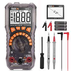 Multimetro Digitale, Amperometri, Tester per Batterie, Tacklife DM10, Tester per 1.5V / 6V / 9V / 12V