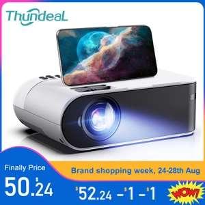 ThundeaL TD60 Mini Proiettore Portatile WiFi Android 6.0 Home Cinema per 1080P Video di Proyector