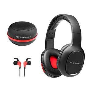 Mars Gaming, pacchetto wireless 3in1: caschi + cuffie in-ear + altoparlante