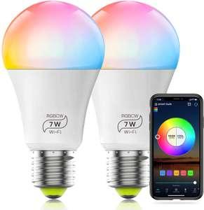 2 Lampadine RGB 7W Smart 13.4€