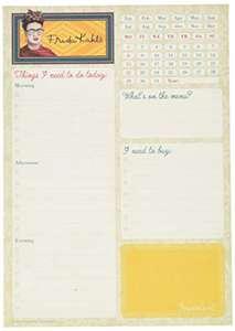 Erik® - Planning da Tavolo A5 Frida Kahlo, 54 fogli a strappo per coprire tutto l'anno, perfetto como agenda organizer