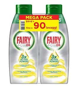 90 lavaggi Fairy Platinum Gel Detersivo Per Lavastoviglie