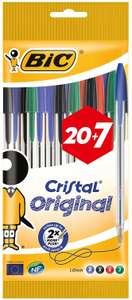 Bic Cristal Original punta media 1 mm confezione 27 penne colori assortiti