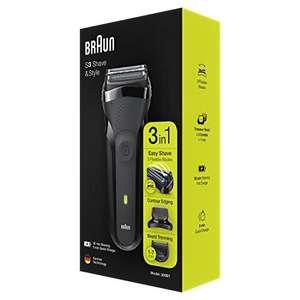 Braun Series 3 Shave&Style , Ricaricabile e senza Fili, Nero