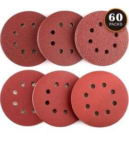 Dischi Abrasivi 60 Pezzi Tacklife ASD03C Carte Abrasive per Levigatrice 10 x 40/60/80/120/180/240