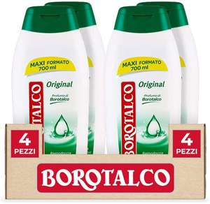 4 x Borotalco Bagnodoccia Original, 700 ml