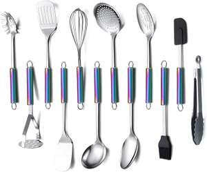 ERRORE - Set da 12 Utensili da Cucina in Acciaio Inossidabile