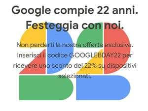 Sconto su alcuni articoli sul Google Store