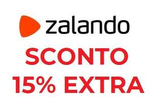 Sconto 15% Extra da Zalando su prodotti selezionati