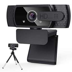Webcam HD 1080P con Copertura per la Privacy e treppiede, Webcam per Computer Portatile Desktop con USB e Microfono