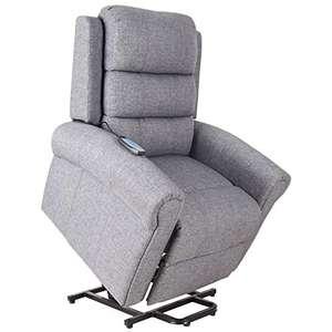 Poltrona Relax Massaggiante Reclinabile Poltrona Alzapersona Elettrica Riscaldante in Tessuto 98x96x105cm
