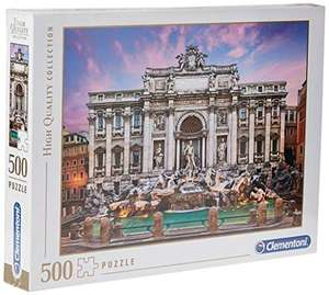 Clementoni- Fontana di Trevi High Quality Collection Puzzle, Multicolore, 500 pezzi, 35047
