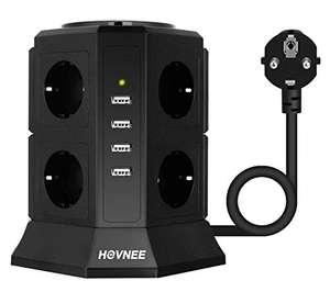 Multipresa Verticale - 8 Prese Con 4 Slot USB 2500W 10A - 2 metri