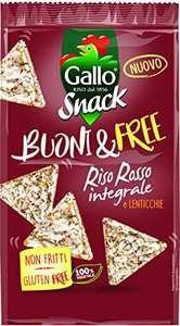 Riso Gallo Snack Buoni & Free Riso Rosso e Lenticchie - Pacco 12 x 80 g