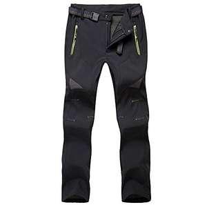 Uomo Pantaloni da Trekking - Foderati in Pile Softshell