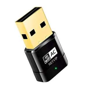 Adattatore WiFi Scheda di Rete AC 600Mbps Dual Bande USB 2.0