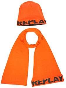 Replay Cappello e Sciarpa Uomo, Arancione (Orange), Taglia unica