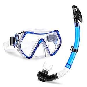 Set Snorkeling,CAMTOA Maschera da Immersione Vista Panoramica a 180 °,Maschera snorkeling subacquea,Antiappannamento