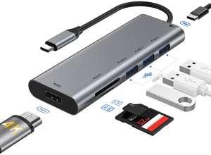Hub USB-C 7 in 1 9.6€