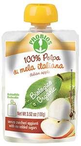 Probios Polpa 100% Mela Italiana Doypack Bio - Confezione da 18 x 100 g