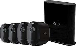 Arlo Pro3, Sistema di Videosorveglianza Wi-Fi con 4 Telecamere 2K HDR, Faro e Sirena Integrati, Visione Notturna a Colori, Audio 2 Vie