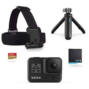 GoPro HERO8 + Shorty + Cinghia per la Testa + Batteria di Riserva + SD 32GB