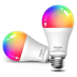 Lampadine 2 pz Wi-Fi Intelligente Lomota, Compatibile con Alexa e Google Assistant, LED 9W