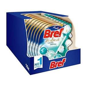 Bref Wc Deluxe Jasmine Detergente WC, Pulizia e Freschezza, Formato Scorta da 10 Pezzi