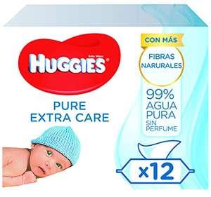 Huggies Pure Extra Care Salviette Umidificate per Bambini, Confezione da 12 da 56 Pezzi
