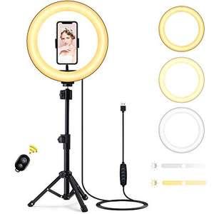 """Luce ad Anello LED con Treppiede e Telecomando Bluetooth 10"""""""