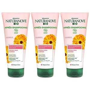 Kéranove Naturanove Bio – Balsamo delicato certificato Bio Calendula – per tutti i tipi di capelli – 200 ml – Set di 3