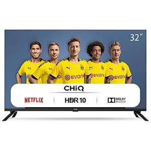 CHiQ L32H7N HD Smart TV, 32 pollici, Wi-Fi, Netflix, Youtube, Prime Video, Facebook, HDR, DVB-T2/C/S2, Frameless Design