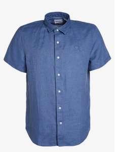 Timberland MILL RIVER - Camicia - blu Maniche corte