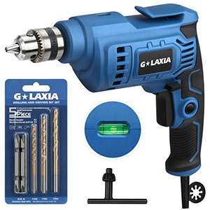 Trapano, GLAXIA 510W Trapano Elettrico, 0-3000 rpm, Velocità Variabile, Mandrino da 10 mm,