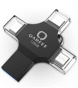 QARFEE Chiavetta USB 3.0 128GB 4 in 1