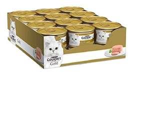 Purina Gourmet Gold Umido Gatto Mousse con Fegato, 24 Lattine da 85 g Ciascuna, Confezione da 24 x 85 g