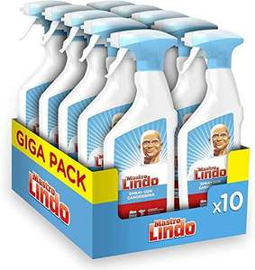10 Confezioni (10 x 500 ml)Mastro Lindo Detersivo Spray Igienizzante Candeggina