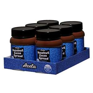 confezione da 6 x 400 g cioccolata spalmabile alla nocciola, senza olio di palma