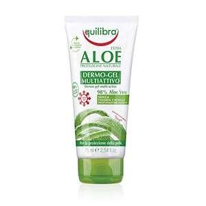 Equilibra Corpo, Aloe Dermo-Gel, Gel Lenitivo a Base di Aloe Vera, Crema Corpo per Arrossamenti, Sollievo Dopo Sole,