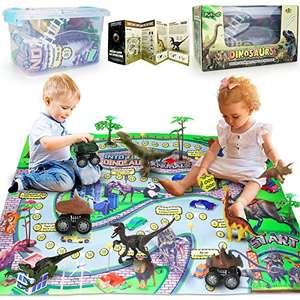 Dinosauri Giocattolo Jurassic World Tappetino Da Gioco E Alberi