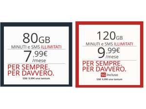 Iliad: 80GB a 7,99€ - 120GB in 5G a 9,99€