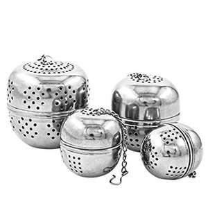 4 x Infusori per tè in acciaio inossidabile, per zuppa e spezie