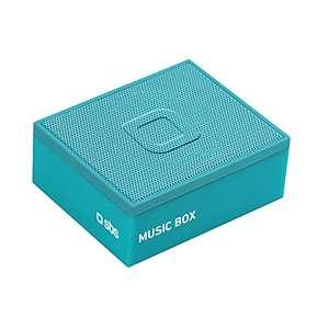 Speaker Bluetooth 3 W, Porta Micro USB per la Ricarica ed Entrata AUX, BT 4.2, Azzurro