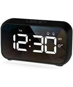 Sveglia Digitale da Comodino con Funzione di Snooze e 4 Livelli di luminosità